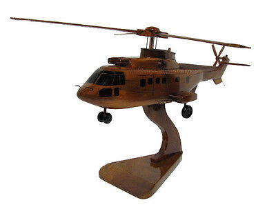 Eurocopter AS332 Super Puma European Military Wood Wooden Helicopter Model New