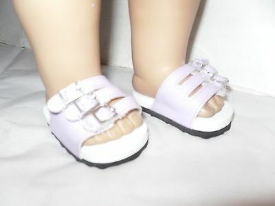 Lavender Sandals Shoes American Fashion  Doll Clothes  for  18 inch  Girl Doll