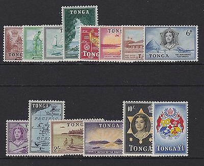 Tonga - 1953 Qe Set To £1 Mint Sg.101-114  (Ref.d236)