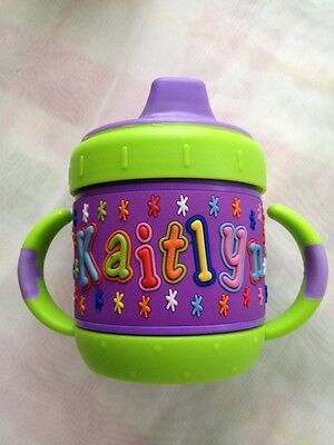 Personalized  I.D Gear sippy cup  Kaitlyn