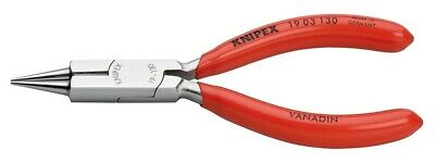 """Knipex 1901130 Round Nose Jewelers Fine Point Pliers with Cutting Edges 5-1/2"""""""