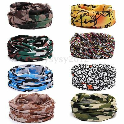 Men Women Head Face Mask Snood Bandana Neck Outdoor Warmer Wrap Shawl Scarf Cap