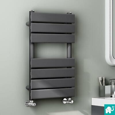 Modern Design Anthracite Flat Panel Heated Towel Rails Bathroom Ladder Radiator