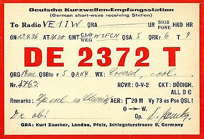 Old QSL radio card Germany DE 2372 T