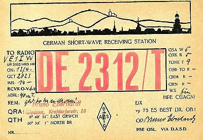 Old QSL radio card Germany DE 2312/T