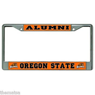 "Black License Plate Frame /""Made in Oregon/"" Auto Accessory Novelty 2468"