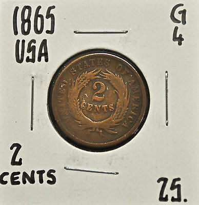 1865 United States 2 cents G-4