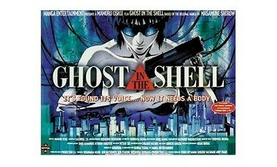 GHOST IN THE SHELL ~ BRITISH QUAD 27x36 MOVIE POSTER Cartoon Anime Mamoru Oshii