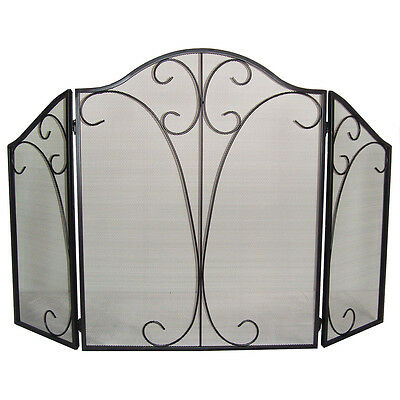 "Clevr 51"" 3-Panel Arch Fireplace Safety Fence Screen Gate Divider Guard"