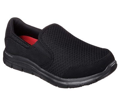 76580 Black Skechers shoe New Women Work Memory Foam Flex Comfort Slip Resistant