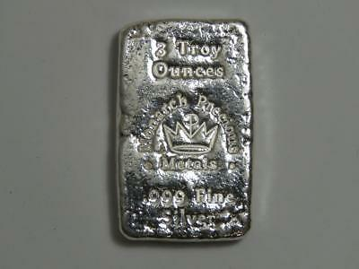 3 oz Silver Hand Poured Bar - Monarch Metals MPM - Three Ounce 999