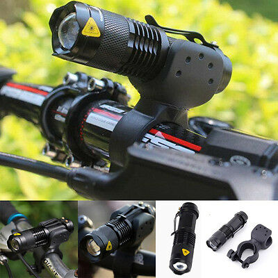 3000lm Cree Q5 LED Cycling Bike Bicycle Head Front Light Flashlight + 360 Mount