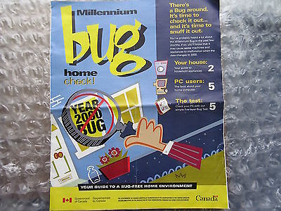 2000 Y2K Millennium Bug Government of Canada Guide Check List Brochure