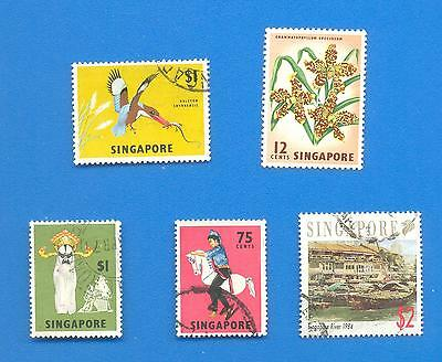 Singapore.5 Stamps.used