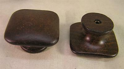 10 Vintage Style Ebony Stained Wood Pull Knob Handle Cabinet Furniture Hardware