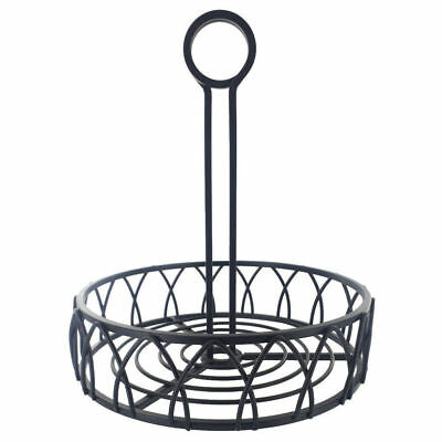 Black Wire Condiment Holder | Holds Menu Card In Handle Counter Tidy Caddy Rack