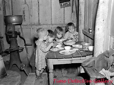 Depression Era Xmas Dinner, Smithfield, Iowa 1936-Historic Christmas Photo Print