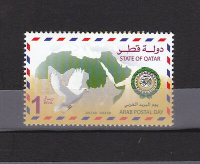 stamps QATAR 2012 ARAB POST DAY JOINT ISSUE MNH LOOK