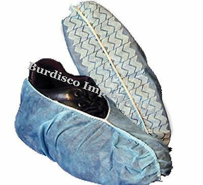 600 Disposable Shoe Covers non-skid / HVAC / XL-FITS TO MEN'S 13-LATEX FREE