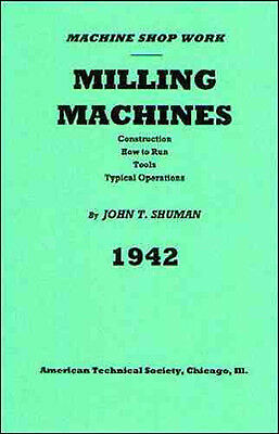 Milling Machines: How to Run, Tools, Typical Operations - 1942 - Reprint