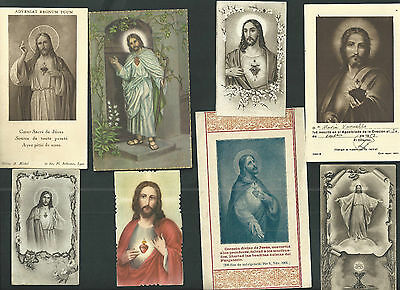 8 Estampas antigua Sagrado Corazon de Jesus andachtsbild santino holy card