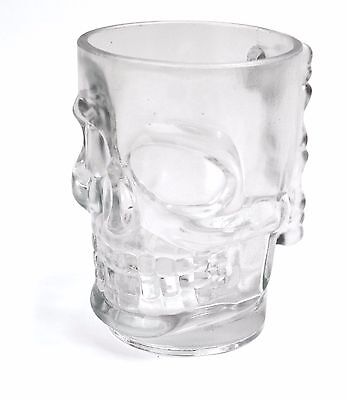40161 Glass Skull Beer Glass With Handle Man Cave Novelty Idea