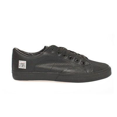 Vision Street Wear Leather Low Skater Schuhe Leder Sneaker Schwarz