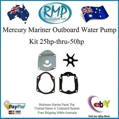A New Mercury Mariner Outboard Water Pump Kit 25hp-thru-50hp # R 821354A2