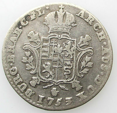 Austrian Netherlands 1/4 Ducaton 1753 Brugge Maria Theresia