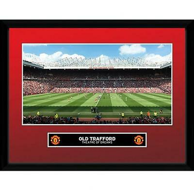 """Manchester United F.C -  16"""" x 12"""" Framed Picture (OLD TRAFFORD)"""