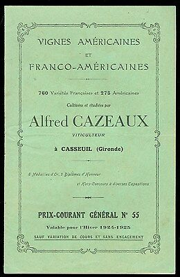 Catalog & Circular French Viticulture - Root Stock Aquitaine, France 1924-1925