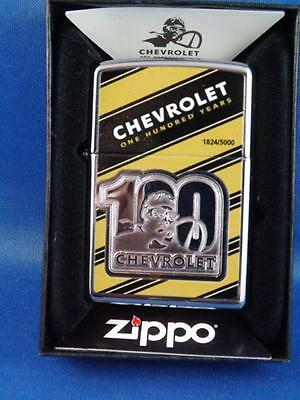 ZIPPO CHEVY CHEVROLET 100th YEAR ANNIVERSARY LIMITED EDITION 1824/5000 LIGHTER