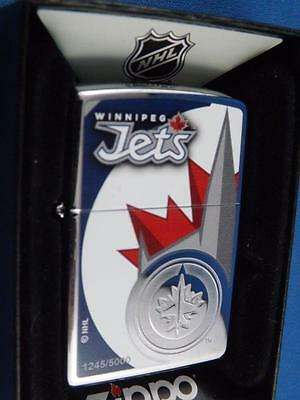 Winnipeg Jets Zippo Lighter Limited Edition Jet Number 1245/5000 Nhl Hockey