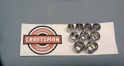 """NEW Craftsman 3/8"""" Drive Dr -Metric mm Shallow Socket 6 Pt Point Choose ANY SIZE"""