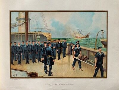 US Nava Civil War Battle of Cherbourg CSS Alabama Matrose Sinking Südstaaten