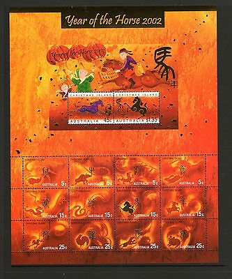 Christmas Island 2002 Year Of The Horse Sheetlet