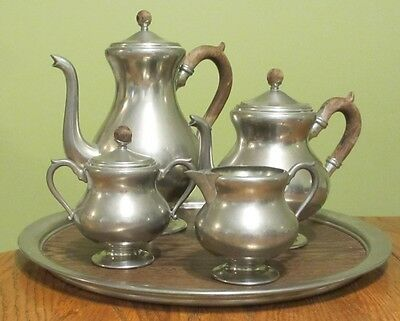 Royal Holland Pewter Tea Coffee Set Of Five GOOD CONDITION