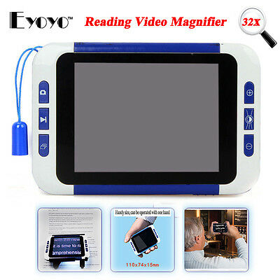 """3.5"""" LCD Screen Portable Electronic Reading Magnifier Eyesight-Aiding 32x Zoom"""