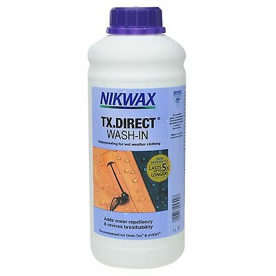 Nikwax TX Direct 1L Liquid Cleaner Clothing Waterproof Aftercare Accessories
