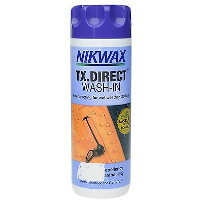 Nikwax TX.Direct 300ml Liquid Cleaner Clothing Waterproof Aftercare Accessories