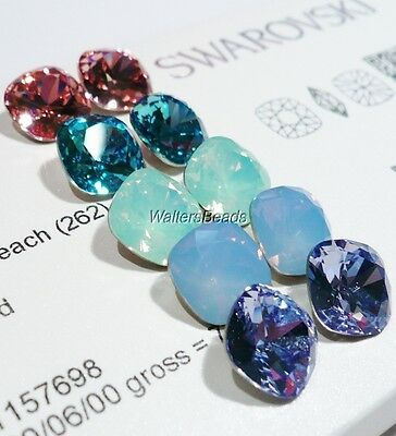 5 Color Mix Fancy Cut Cusion Square Crystal Stone SWAROVSKI # 4470 12 MM  (10)