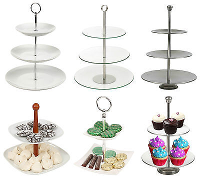 2 3 4 Tier Pastry Pie Stand Decorative Wedding Cake Cupcake Platform Plate NEW
