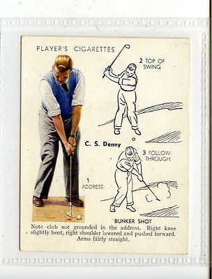 (Jc5679-100)  PLAYERS,GOLF,BUNKER SHOT,C.S.DENNY,1939,#13