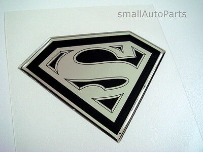 NEW!!! SUPERMAN hood/back/trunk domed EMBLEM black/chrome logo badge car decal