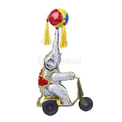 Wind up Elefant spilen mit Ball On Tricycle Kinder Blechspielzeug