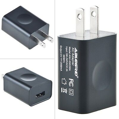 US Plug 5V 2A USB Port Wall Charger 5 Volt 2 Amp AC-DC Power Adapter Converter