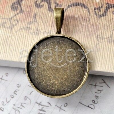9pcs Round Pendants Cabochon Settings Assorted TS7387