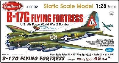 "Guillows ""Giant""scale Kit B17G Flying Fortress # 2002 s"