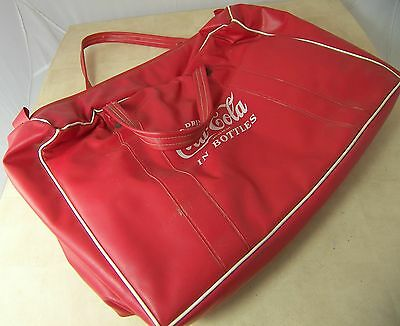 Vintage 1950s COCA-COLA PLASTIC PICNIC COOLER Bottle Carrier Coke 14 x 9 x 4""