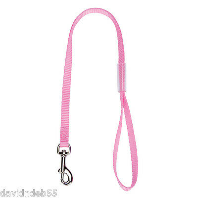 PET Dog Cat NYLON RESTRAINT Noose LOOP w/Clip for Grooming Table Arm Bath*PINK
